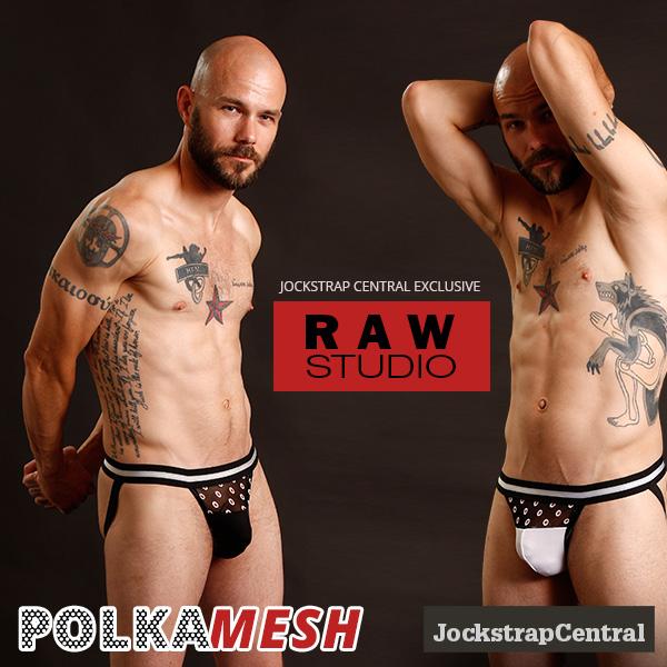 Raw Studio Polka Mesh Jockstraps