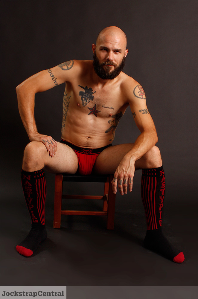 Mick in Nasty Pig Ref Jockstrap and Socks