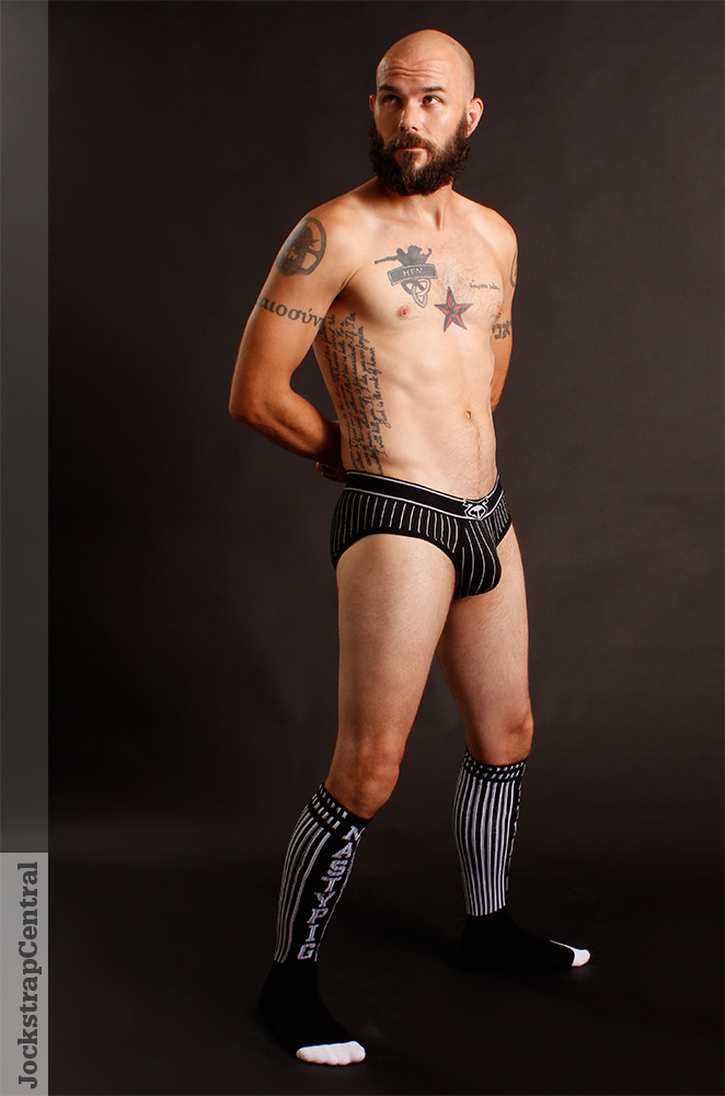 Mick in Nasty Pig Ref Brief and Socks