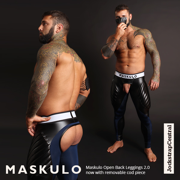Maskulo Open Back Leggings now with removable Cod Piece