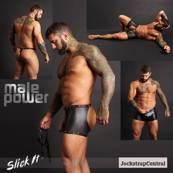 Male Power Slick It Fetish Wear at Jockstrap Central
