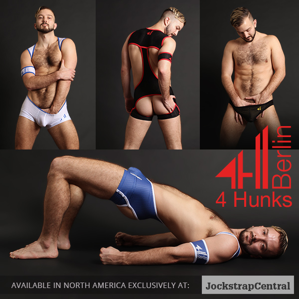 4 Hunks Berlin Sports Fetish Jockstraps and Singlets