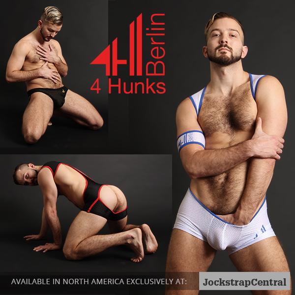 4 Hunks Berlin Jockstraps and Wrestling Singlets